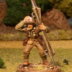 Miniature figure painting of a 28mm US Medic