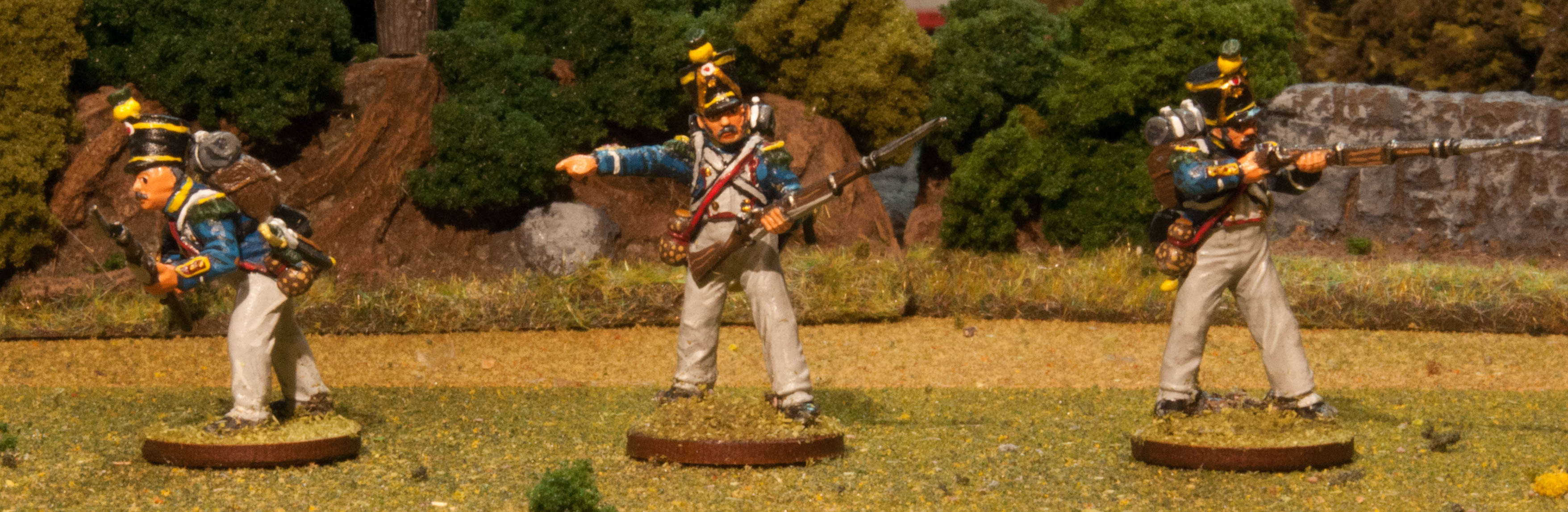 French Voltigeur Example of Our Painting Service for Napoleonic Miniatures