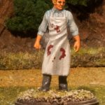 Miniature figure painting of a 28mm Napoleonic Surgeon