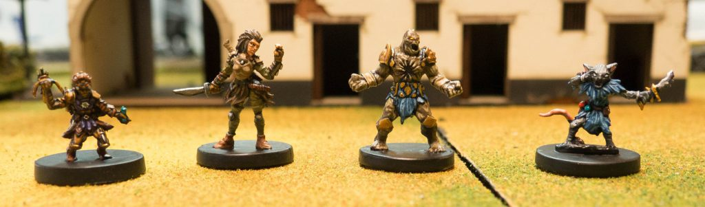 Gloomhaven Miniatures Starting Characters