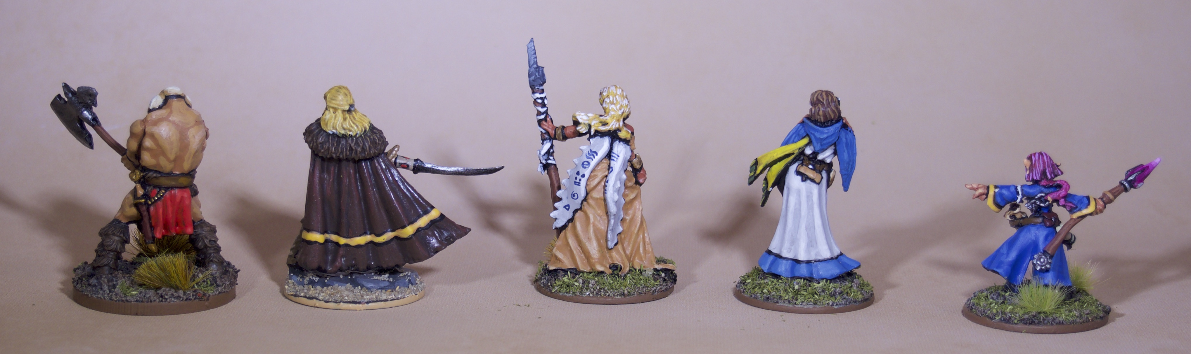 Painted Roleplaying Miniatures - Adventuring Party Rear View