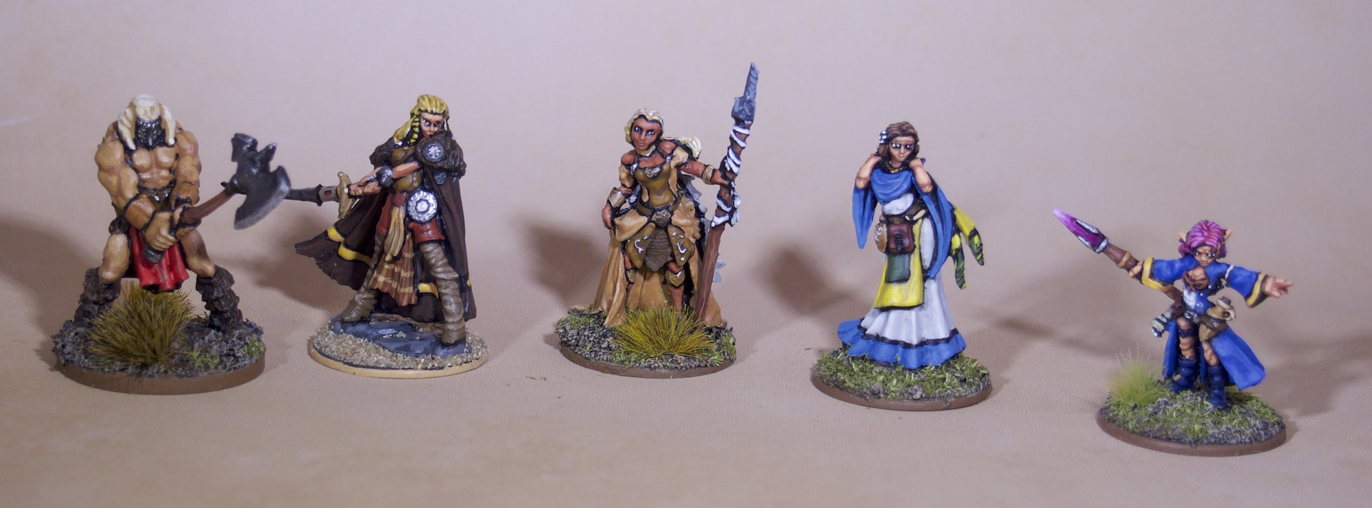 Painted Roleplaying Miniatures - Adventuring Party
