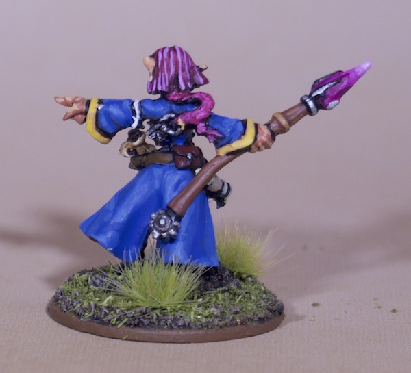 Painted Roleplaying Miniatures - Gnome Wizard Rear View