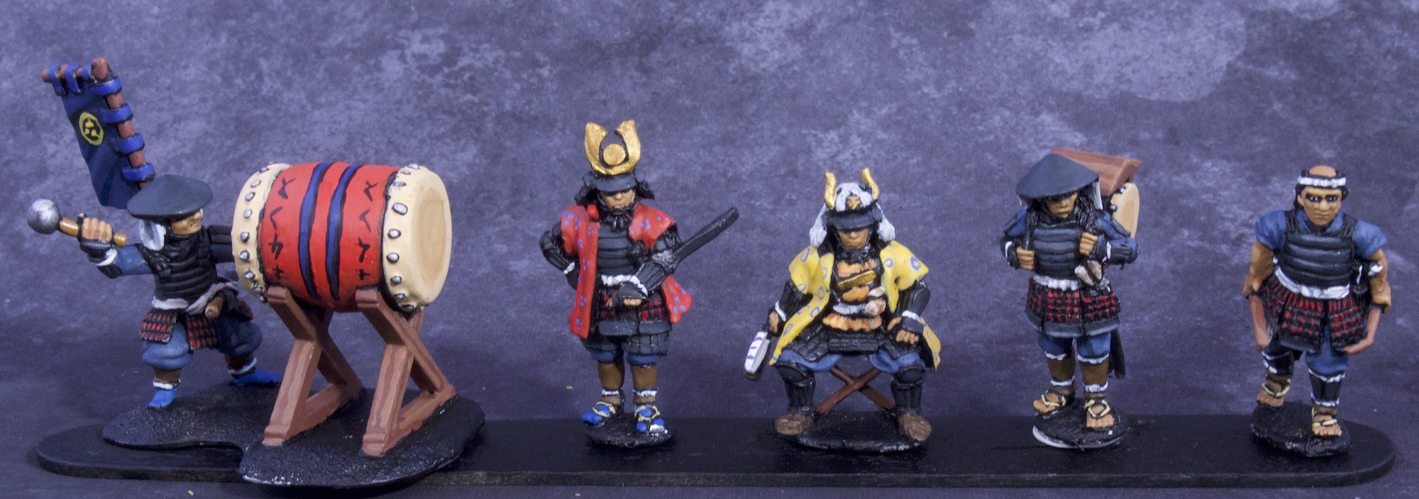 Painted Samurai and Ashigaru Miniatures