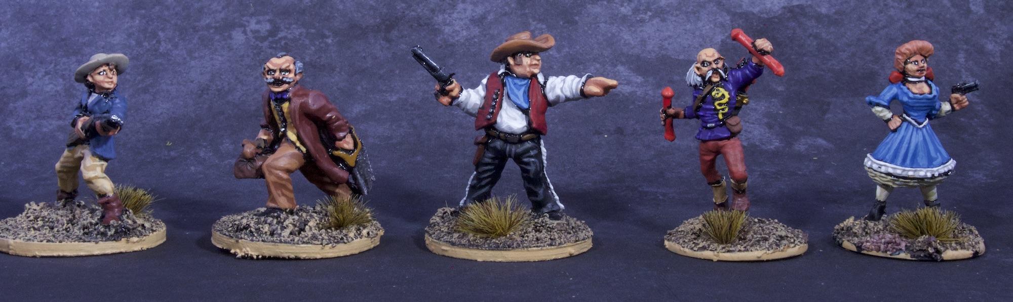 Painted Deadlands Miniatures