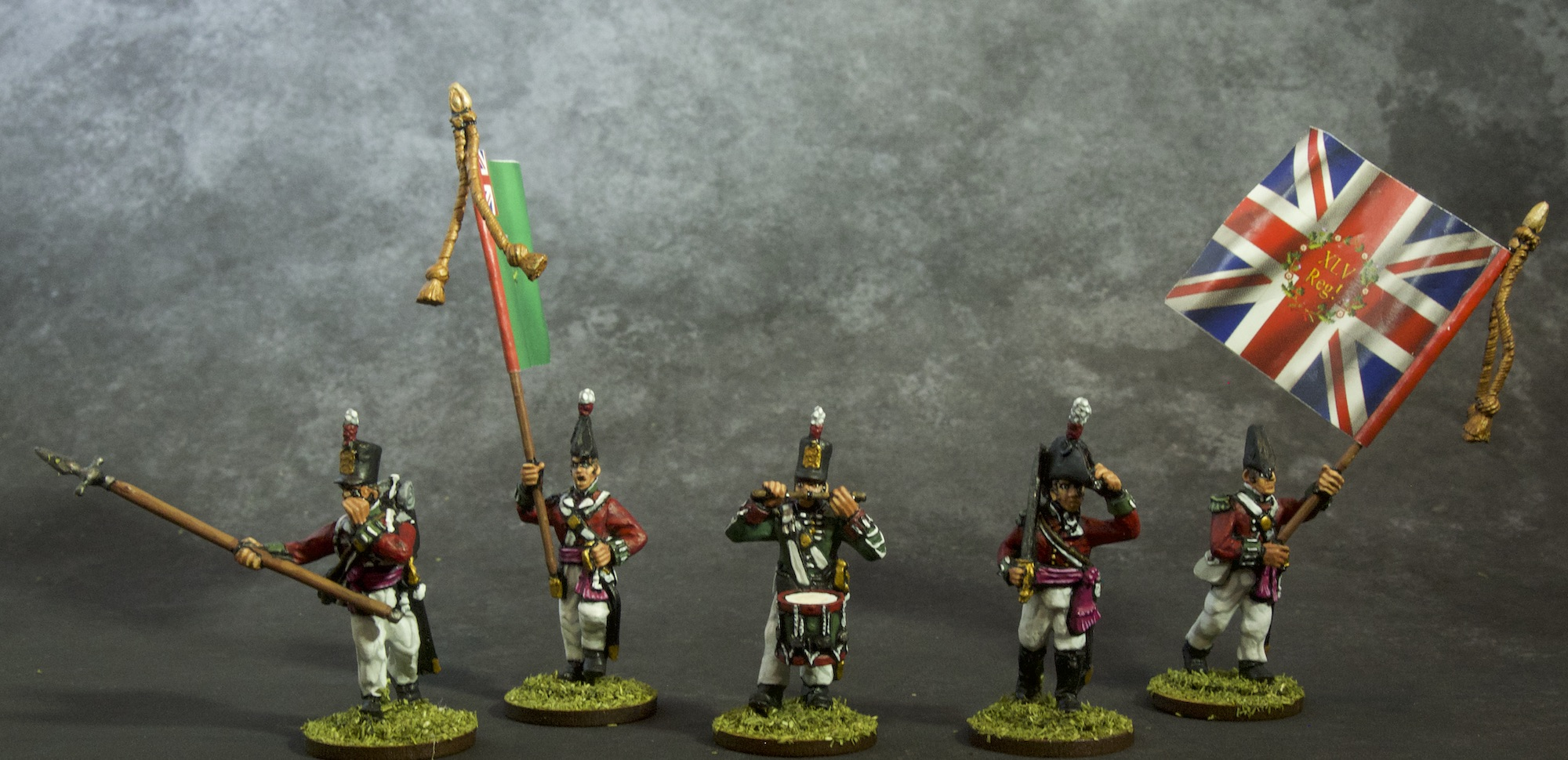 Painted 28mm Miniature Napoleonic British Infantry