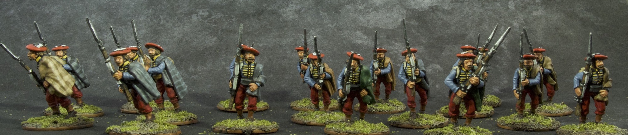 Painted 28mm Navarre Guides