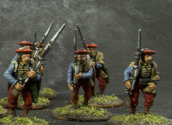 Painted 28mm Navarre Scouts