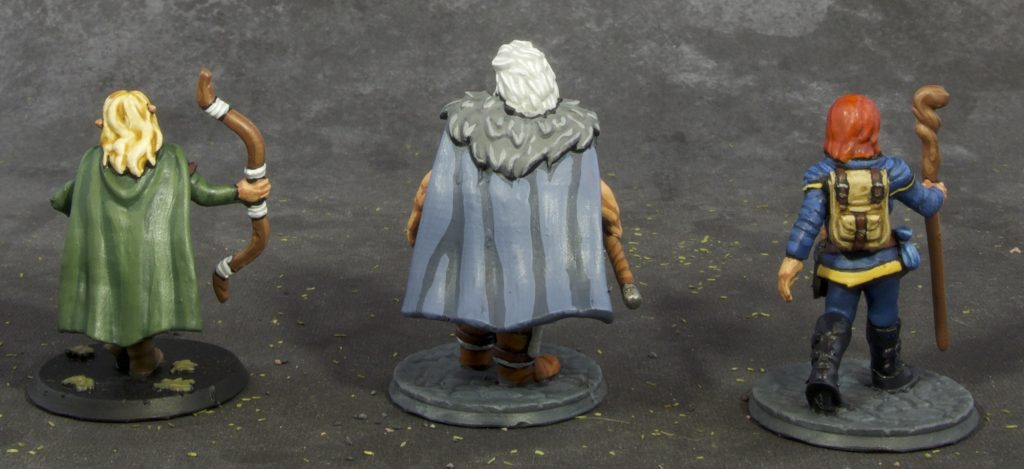 28mm Fantasy Barbarian, archer and wizard (back)