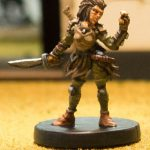 Miniature figure painting of a Gloomhaven Scoundrel